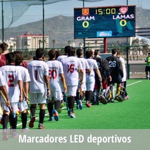 Marcadores y Pantallas LED en instalaciones deportivas